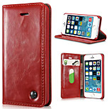 High Grade PU Leather Full Body Phone Cases and Back Cover Protective Shell with Stand for iPhone 5/5S