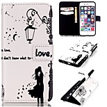 The Light Lover Pattern Relief  PU Leather Wallet Case with Stand and Card Holder for iphone 6plus/6Splus