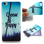 Choose To Be Happy Words Phrase Pattern 0.6mm Ultra-Thin Soft TPU Case for Huawei P8 Lite
