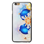 Christmas Style Snowflake and Bells Pattern PC Hard Back Cover for iPhone 6