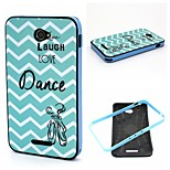 2-in-1  Live Laugh Dance Phrase Pattern TPU Back Cover + PC Bumper Shockproof Soft Case For Sony E4