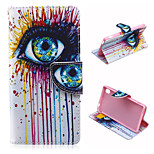 Magic Eye Pattern PU Leather Case Cover with Stand and Card Holder for Sony Xperia M4