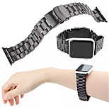 Black Men Watchband iWatch Connector For Apple iWatch Metal Stainless Steel Watchband for Iwatch 38mm 42mm