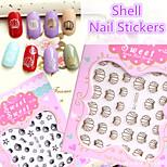 1pcs 3D Shell Nail Stickers
