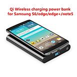 T800 qi caricatore senza fili portatile con 7000mAh per Samsung S6 / bordo / bordo + / Nota5 / nesux5 / 6 e l'altro telefono qi