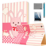 LEXY® Bunny's Dreams Pattern PU Leather Flip Stand Case with Screen Protector and Stylus for iPad Air/iPad 5