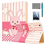 sogni modello PU caso del basamento del cuoio di vibrazione del coniglio lexy® con la protezione dello schermo e lo stilo per ipad aria /