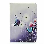 strass couro de flor de borboleta para iPad mini 4 (cores sortidas)