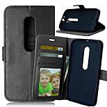 de lujo de la PU billetera de cuero flip con ranura para tarjeta de marco de fotos cubierta del soporte para Motorola MOTO g3 g tercera