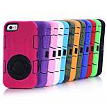 Heavy Duty Rugged Hybrid Shockproof Kickstand TPU+PC Cover Hard Protective Case for Apple iPhone 5/5S (Assorted Color)