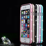 Piano Paint Metal Frame+Crystaldiamond+TPU Combo Shell for iPhone 4/4S (Assorted Colors)