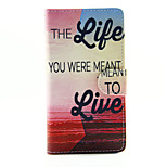 Life Face Design PU Leather Stand Case with Card Slot for Sony Xperia M2