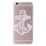 White Ship Anchor Pattern Transparent Soft TPU Back Cover for iPhone 6/6S 4.7
