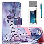 lexy® viola modello sogno pu custodia in pelle corpo pieno, con la protezione dello schermo e lo stilo per iPhone 5 / 5s