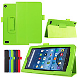 Dengpin PU Leather Litchi Texture with Stand Cover Case Skin for Amazon 2015 kindle fire HD 7 (Assorted Colors)