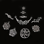 Beadia Antique Silver Metal Flower Charm Pendants Olive Tree Jewelry Connectors DIY Accessories