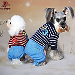 FUN OF PETS®Lovely Stripe Design Fleece  Jumpsuits for Pets Dogs (Assorted Sizes and Colours)