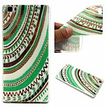 Green Tribal Words Phrase Pattern 0.6mm Ultra-Thin Soft TPU Case For Huawei P8 Lite