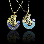 18K Real Gold Plated Evil Eye Muslim Allah Islamic Pendant 4.3*6.3CM