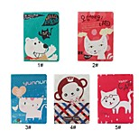 Happy Group Animal with Stand PU Leather Case for iPad 2/3/4(Assorted Colors)
