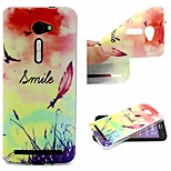 Smiling Face Feathers Words Phrase Pattern 0.6mm Ultra-Thin Soft TPU Case for Zenfone2 5.0