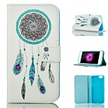 Dream Catcher and Feather Pattern Card Stand PU Leather Case Cover for iPhone 6 / 6S