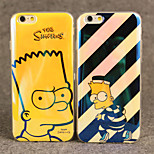 The Simpsons Cartoon Animation Blue Light Reflective Blu-ray Soft TPU Case Cover for iphone 6s / iphone 6