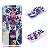 Cross Tiger Pattern Phone Shell Thin TPU Material for iPhone 6/6S