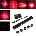 LT - 5mw 650nm Visible Adjustable Beam Red Laser  Pen Flashlight - Black