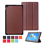8 Inch Triple Folding Pattern High Quality PU Leather for Amazon Fire HD 8(2015)(Assorted Colors)