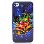 Christmas Bell UV Varnish PC Material Christmas Phone Case for iPhone 4 /4S