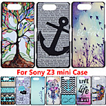 Brand UltraThin Cartoon Pattern Matte Hard Back Case for SONY Xperia Z3 Compact Z3 mini M55W Cell Phone Protective Cover