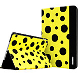 ESR Beat Series Two-fold Folio Smart Case with Auto Wake Up/Sleep Function for iPad Air 2 - Yellow Polka Dots