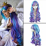 Beautiful Colorfully Cosplay  Sythetic Wave Wigs Hair Extensions