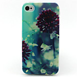 Leaf Painting Pattern TPU Soft Case for iPhone 4/4S