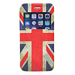British Flag Pattern PU Window Full Body Case for iPhone 6