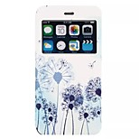 Dandelion pattern TPU+PU Flip window shell Case with Kickstand For iPhone6/6s