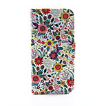 Chrysanthemum Flower Pattern PU Leather Full Body Case with Stand and Card Slot for iPhone 6s Plus 6 Plus 6s 6 SE 5s 5