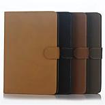 listra retro simples do caso da aleta shell de couro apoio caso a protecção do computador para iphong iPad mini 4 cores sortidas