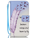 Feather  Pattern PU Leather Phone Case For iPhone 5/5S