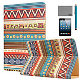 LEXY® Tribal Totem Pattern PU Leather Flip Stand Case with Screen Protector and Stylus for iPad Mini 1/2/3