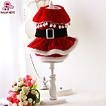 FUN OF PETS® New 2015 Lovely Cotton Santa's Costume Dress Pets Clothing for Dogs Puppies Clothes (Assorted Sizes)