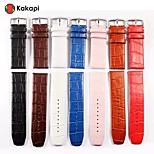 Kakapi Women And Men Single Button Alligator Pattern Watchband Fashion Pu for Apple Watch38/42mm Assorted Colors