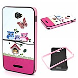 2-in-1  Owls Family Pattern TPU Back Cover + PC Bumper Shockproof Soft Case For Sony E4