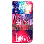 Hope love Pattern PU Leather Case with Magnetic Snap and Card Slot for iPhone 6/iPhone 6S