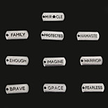 Beadia Antique Silver Warrior Mircle Enough Grace Fearless Brave Imagine Family Protected Metal Charm Pendants