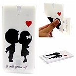 I Will Grow Up Words Phrase Pattern 0.6mm Ultra-Thin Soft Case for Sony C5