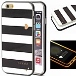 2-in-1 Black And White Case Pattern TPU Back Cover with PC Bumper Shockproof Soft Case for iPhone 6 plus