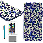 LEXY® Admiral Collection Pattern Hard PC Back Case with 9H Glass Screen Protector and Stylus for iPhone 5/5S