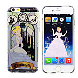 Disney Princess Cinderella Silicone Gel TPU material Semi-Transparent Case Free with HD ScreenProtector for iPhone6 Plus